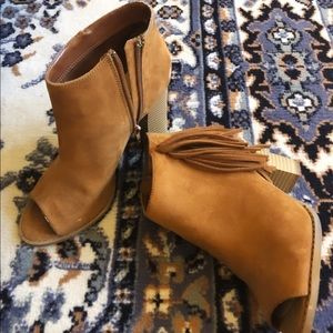 📚Express | Camel Color Ankle Boots